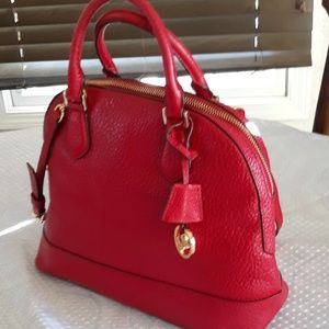 Michael Kors Large Red  Saffiano  Purse
